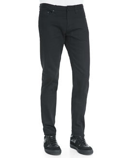Burberry Prorsum Slim-Fit Denim Jeans, Black