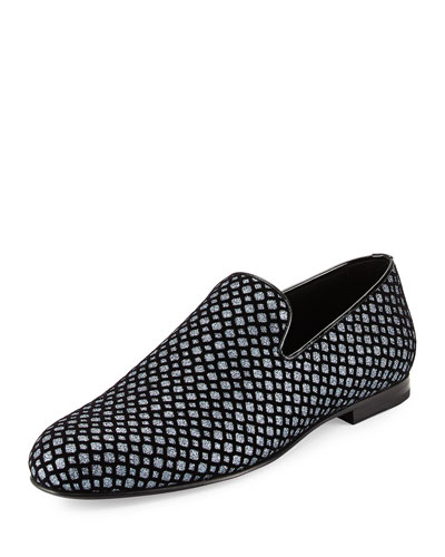 Sloane Glittered Fabric Loafer