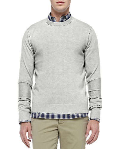 Cashmere Raw-Seam Sweater