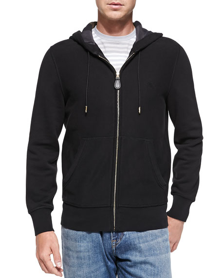 Burberry Brit Knit Zip Hoodie, Black