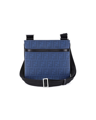 Zucca Small Coated Messenger Bag, Blue