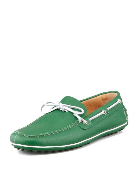 Car Shoe Slip-On Driving Shoe, Green
