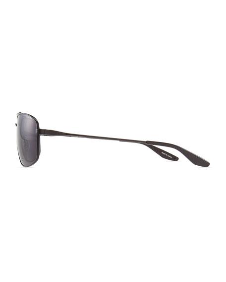 Hockett Aviator Sunglasses, Black