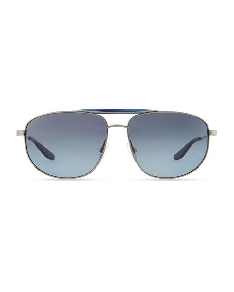 Libertine Pewter Aviator Sunglasses