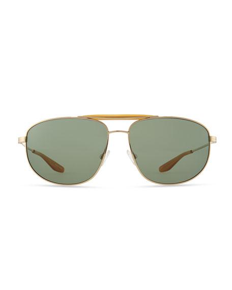 Libertine Aviator Sunglasses, Golden
