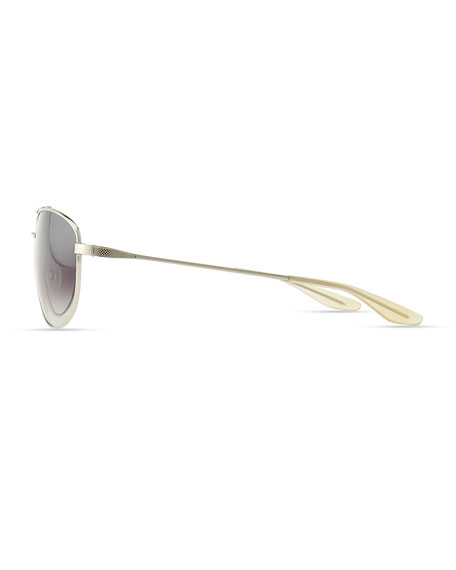 Libertine Aviator Sunglasses, Silver