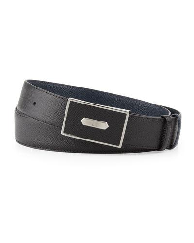 Bourdon Leather Belt, Black