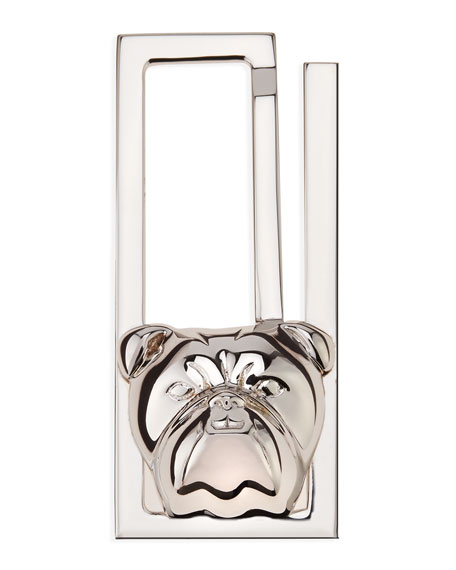 Silver Bulldog Money Clip