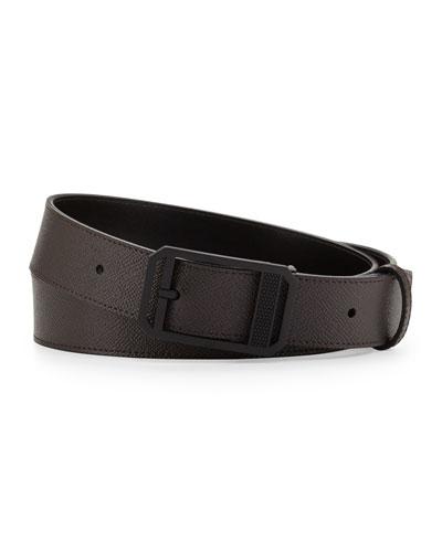 PVD Diamond-Detail Belt, Black