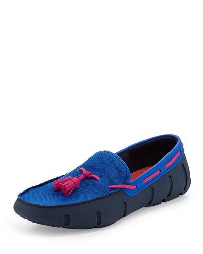Tassel Water-Resistant Loafer, Royal/Pink