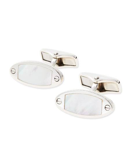 dunhill MOP Wing Mirror Cuff Links