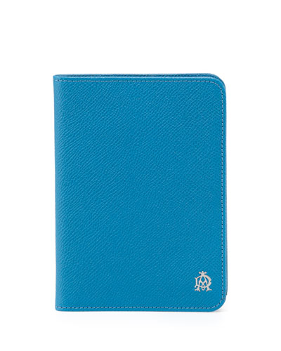 Bourdon Leather Passport Holder, Turquoise