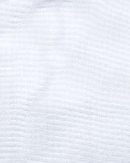 Textured Woven Dress Shirt, White