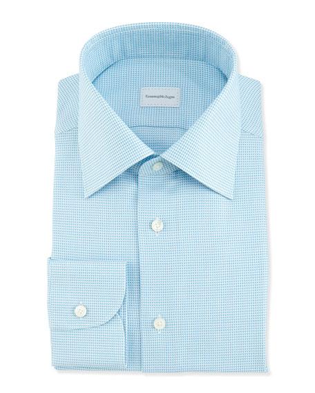 Tic Weave Dress Shirt, Aqua