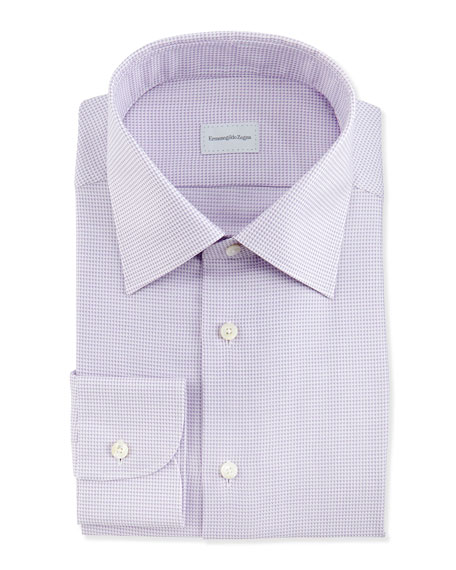 Tic Weave Dress Shirt, Purple