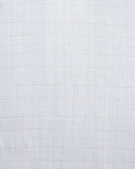 Tonal Glen Plaid Dress Shirt, Tan