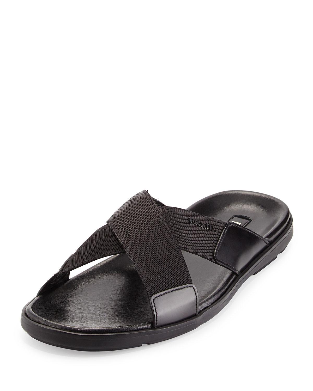 c4c4c05b9 Prada Crisscross Nylon Sandal