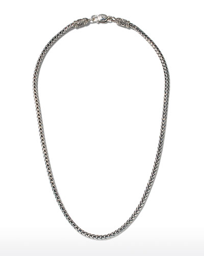 Men's Sterling Silver Chain Necklace, 20
