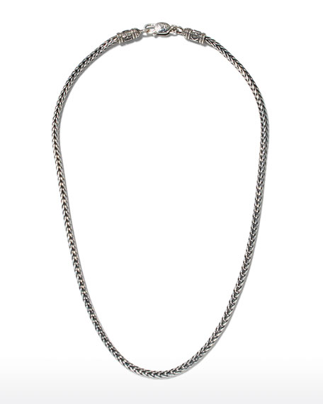 Men's Sterling Silver Chain Necklace, 20""