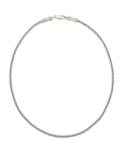 Sterling Silver Chain Necklace, 24""