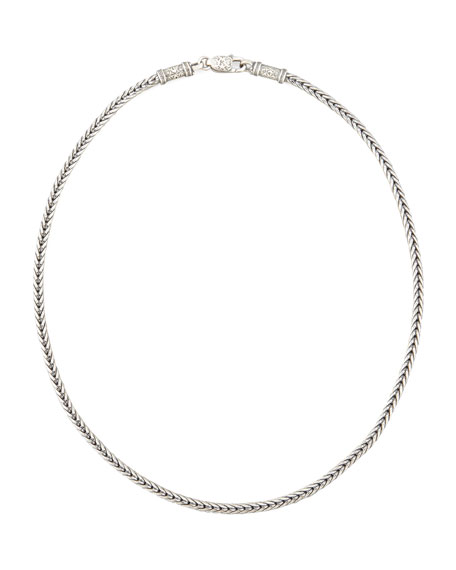 Men's Sterling Silver Chain Necklace, 24""