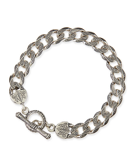Konstantino Men's Sterling Silver Flat Link Bracelet