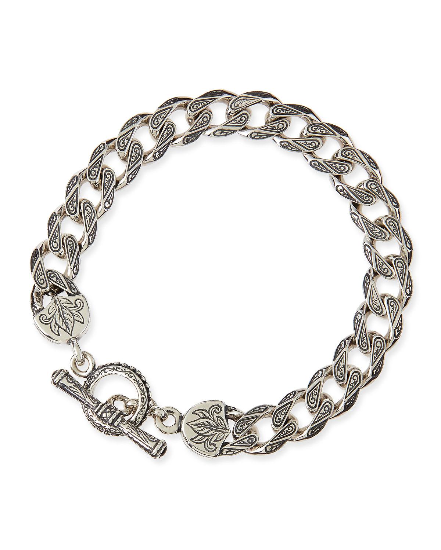 Men S Sterling Silver Flat Link Bracelet