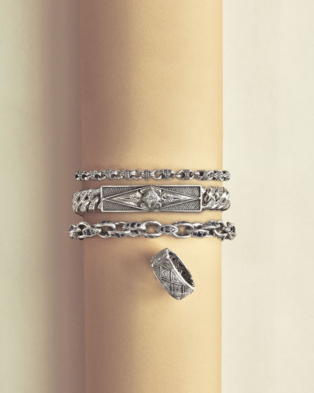 Men's Sterling Silver Mini-Link Bracelet