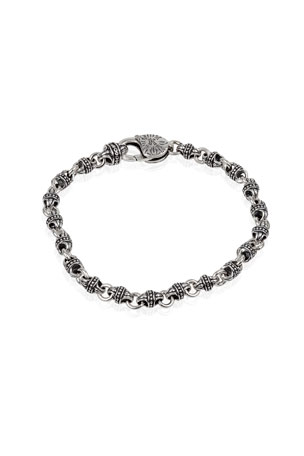 Konstantino Men's Sterling Silver Mini-Link Bracelet