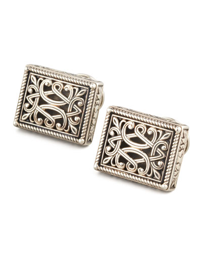 Sterling Silver Filigree Cuff Links