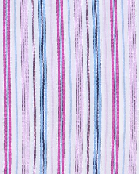 Multi-Stripe Dress Shirt, Pink/Blue