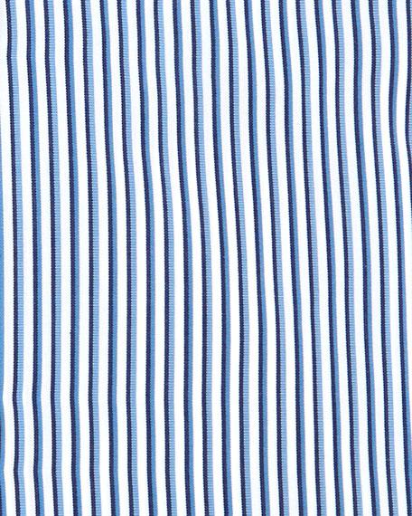 Shadow-Stripe Woven Dress Shirt, Blue