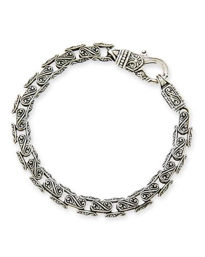 Men's Scroll Oval Link Bracelet