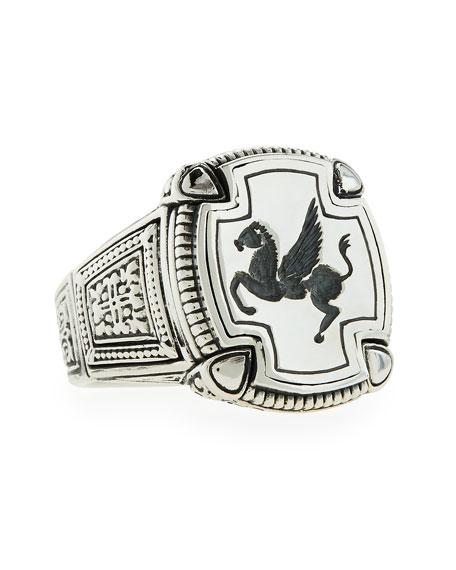 Men's Pegasus Square Ring, Size 10