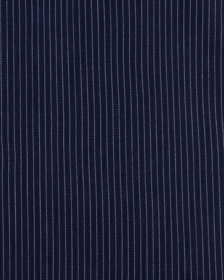 Pinstripe Dress Shirt, Dark Navy/White