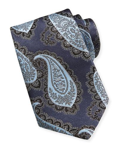 Textured Grenadine Silk Tie, Navy