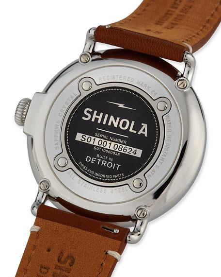 Men's 47mm Runwell Men's Watch, Green/Brown