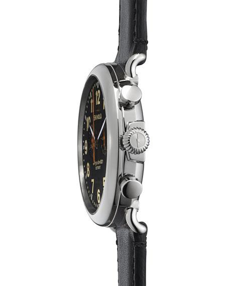 Men's 47mm Runwell Chronograph Men's Watch, Black/Black