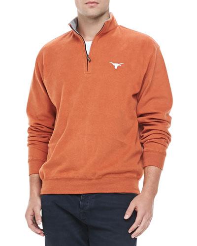Peter Millar University of Texas Longhorn 1/4-Zip Fleece, Orange