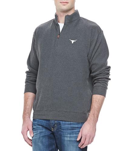 Peter Millar University of Texas Longhorn 1/4-Zip Fleece, Charcoal