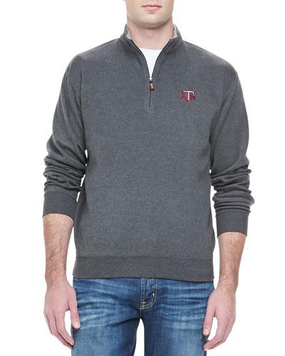 Peter Millar Texas A&M 1/4-Zip Fleece, Gray
