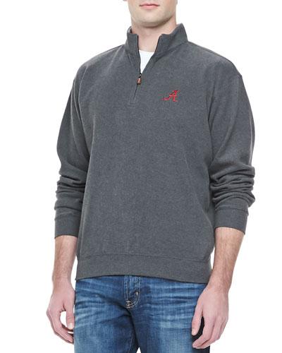 Peter Millar Alabama 1/4-Zip Fleece, Charcoal