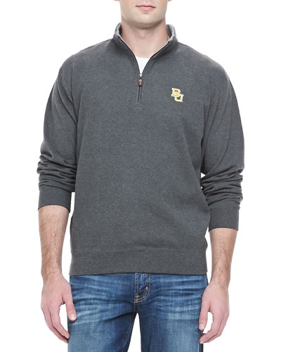 Peter Millar Baylor University 1/4-Zip Fleece, Charcoal