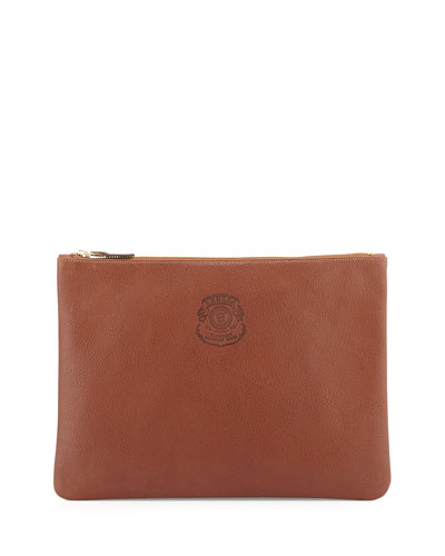 Ghurka Large Leather Zip Pouch