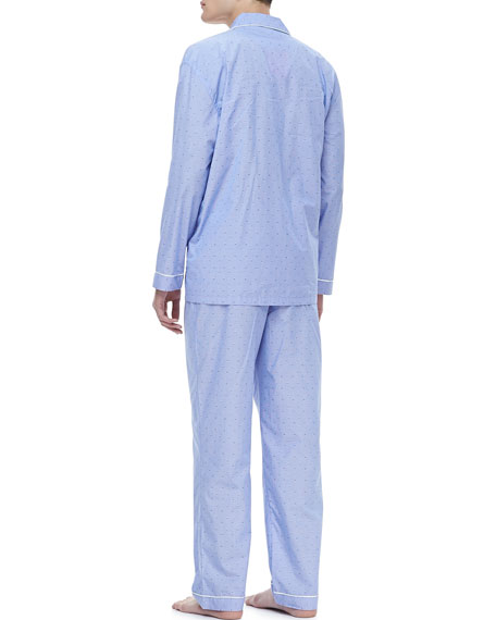 Classic Men's Pajamas, Gingham Dobby