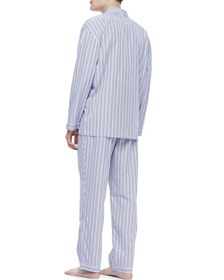 Classic Men's Pajamas, Red/Blue