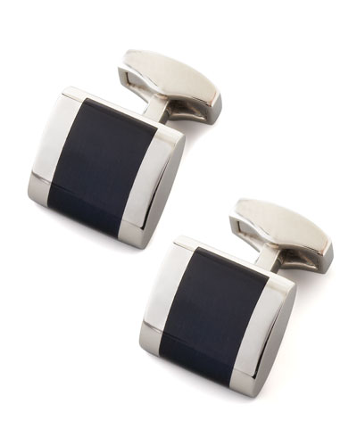 Freeway Fiber Optic Cuff Links, Black