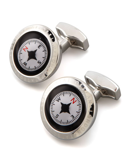 Tateossian Round Compass Cuff Links YboDz