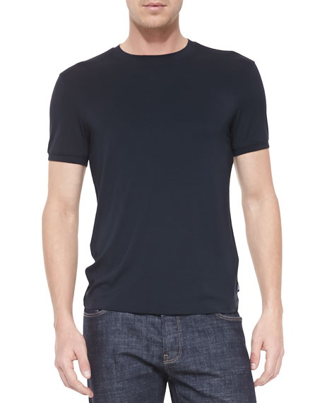 Short-Sleeve Jersey T-Shirt, Navy