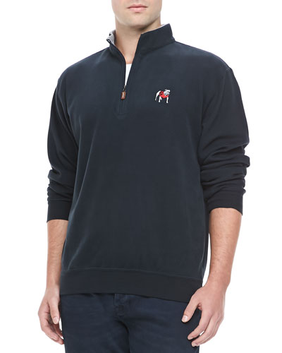 Peter Millar University of Georgia 1/4-Zip Fleece, Black